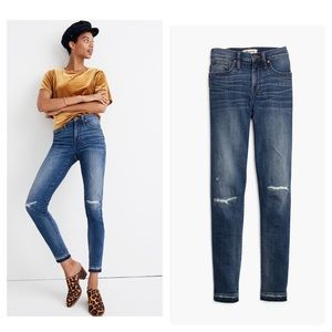 """New Madewell 9"""" Mid-Rise Skinny Jeans in York Wash"""
